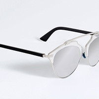 """""""DIOR SO REAL"""" SUNGLASSES CRYSTAL, BLACK AND SILVER"""