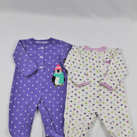 Carter's Set of 2 Polka Dot Long Sleeve Onesuits, size 6 mo
