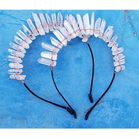 rystal Handmade Hairband Crown for women