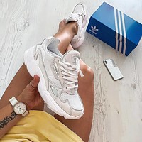 ADIDAS FALCON men and women Retro Old running shoes-10
