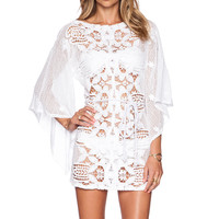 Miguelina Claudia Dress in Pure White