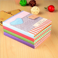 Sweet Love Pattern Fabric Cover Diary Notebook Travel Notepad Gift Stationery