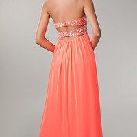 Backless Chiffon Evening Gown by Morgan