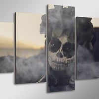5 Pcs HD Printed Day of the Dead Face Group Canvas Print room decor print poster