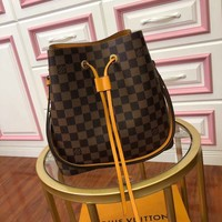 Kuyou Gb29107 Lv Louis Vuitton N40213 Neonoe Small Crossbody Bucket Bag - Leather Drawstring 26x 22x 27cm
