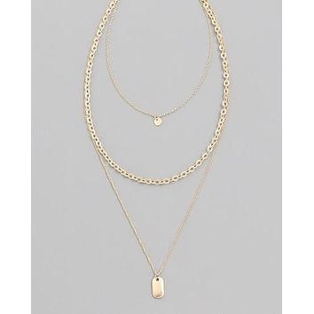 Token Chain Layer Necklace