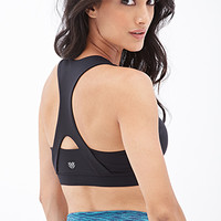 FOREVER 21 Crossback Sports Bra Black/Black