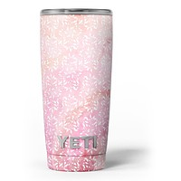 The Light Pink Watercolor Snow Crystal - Skin Decal Vinyl Wrap Kit compatible with the Yeti Rambler Cooler Tumbler Cups