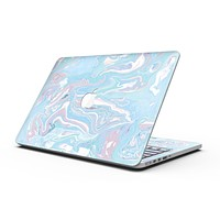 Marbleized Pink and Blue Soft v3 - MacBook Pro with Retina Display Full-Coverage Skin Kit