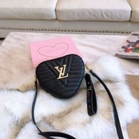 Lv Black Heart Purse