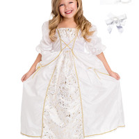 Little Adventures Princess Bride Dress Up with Necklace, Bracelet & Hairbow