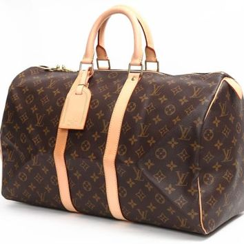 LOUIS VUITTON Monogram Canvas Keepall 45 Boston Bag M41428 Auth F/S JAPAN