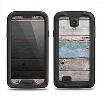 The Multicolored Tinted Wooden Planks Samsung Galaxy S4 LifeProof Nuud Case Skin Set