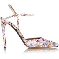 Tabitha Simmons - Valentina floral-print leather pumps