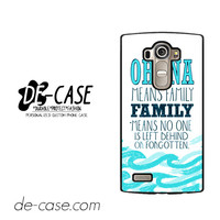 Ohana Means Family Lilo And Stitch For LG G4 Case Phone Case Gift Present