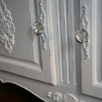 6 Furniture applique / back plate / backplate / onlay / chic furniture / cottage furniture / french furniture