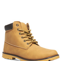 Short Lace-Up Outdoor Boots | Wet Seal