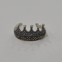 Princess Crown Toe Ring 925 Sterling Silver Marcasite Midi Ring Fine Silver Jewelry Knuckle Ring Royal Stackable Statement Ring Band Queen - Edit Listing - Etsy