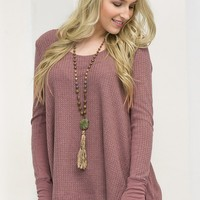 Simple Burgundy Top