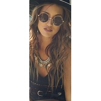 Round John Lennon Sunglasses Brown Lenses Gold Frames Or Black Lenses Black Frames Hippie Woodstock Festival or Steampunk Eyewear