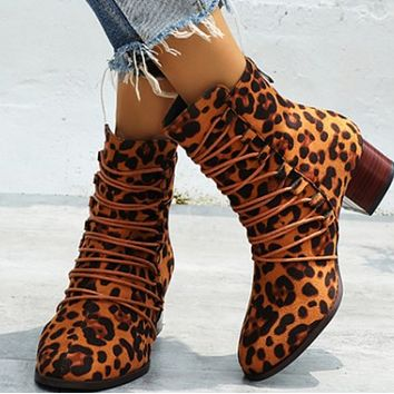 The new style is a hot seller with a versatile mix of chunky mid-heel ankle boots