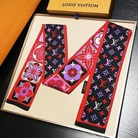 LV Louis Vuitton New Stylish Women Men Multi-Purpose Scarf Silk Scarves