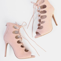 Not Your Princess Lace-Up Heels