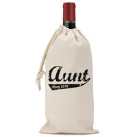 Aunt Since 2015 Wine Bag