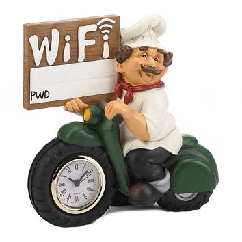 Italian Chef Wi-Fi Sign and Clock