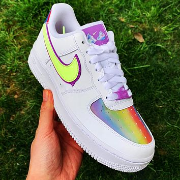 Nike Air Force 1 Low Easter Egg Breathable Suspension Sneakers colorful