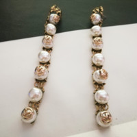 GUCCI Women fashion new retro more pearl long earring personality accessories