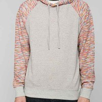 Contrast Sleeve Pullover Hooded