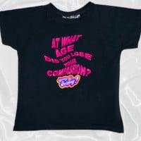 SWEET LORD O'MIGHTY! COMPASSION CROP TEE IN BLACK
