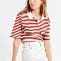 UO Striped Oversized Polo Shirt | Urban Outfitters
