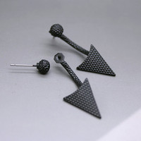 Geo Triangle Stud Earrings