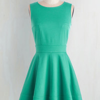 Mid-length Sleeveless Fit & Flare Springs to Mind Dress
