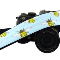 Bee Camera Strap. Canon Nikon Camera Strap. DSLr / SLR Camera Strap. Photo Camera Accessories.