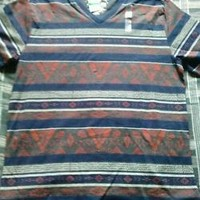 NWT Mens Short Sleeve Graphic Tribal Design Shirt by American Rag size Large
