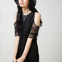 Hearts and Bows Lohan Lace Shoulder Dress | ARK