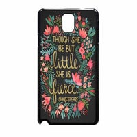 Little And Fierce On Charcoal Samsung Galaxy Note 3 Case