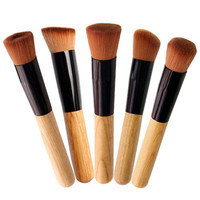 1PC Pro Contour Face Foundation Blush Wood Liquid Brush Cosmetic Makeup Tool