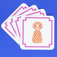 Blush Label Pineapple Coasters - Pink & Orange