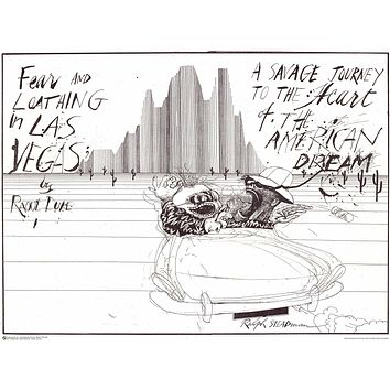 Ralph Steadman Fear and Loathing Poster 24x32