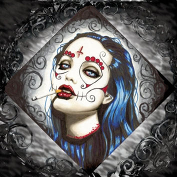 Day of the Dead Angelina Jolie square archival photo prints