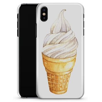 Traditional Ice Cream Cone Swirl  - iPhone X Clipit Case