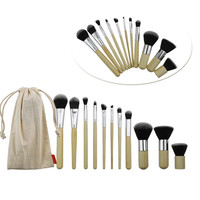 11 Pack Make-up Brush Collection With Bag