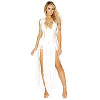 Sexy Space Odyssey Angel Double Slit Dress and Cincher