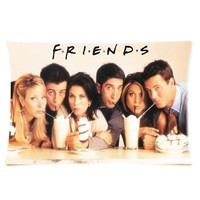 """Friends Tv Show Tv Actor Print Pillow Case Protector Rectangle Pillow Case Cover One Side 16""""x24"""""""