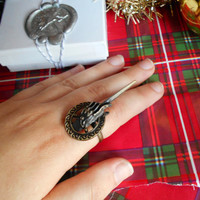 Hand Of The King Ring Brass Adjustable A Song Of Ice And Fire Game Of Thrones HBO Inspired Eddard Stark Tyrion Lannister