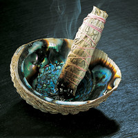Abalone Shell and Sage Bundle - New Age, Spiritual Gifts, Yoga, Wicca, Gothic, Reiki, Celtic, Crystal, Tarot at Pyramid Collection